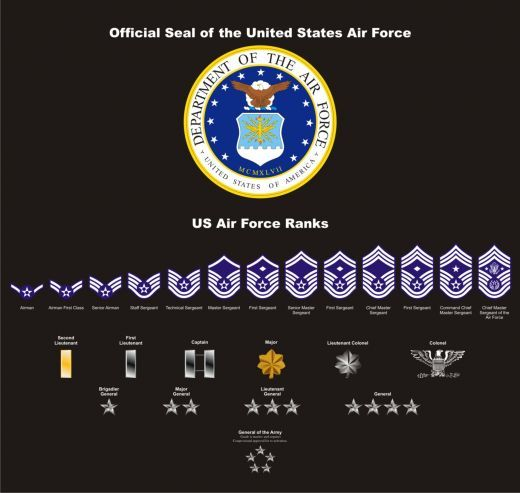 U S Air Force Seal Ranks And Patches Vectored Air Force Love