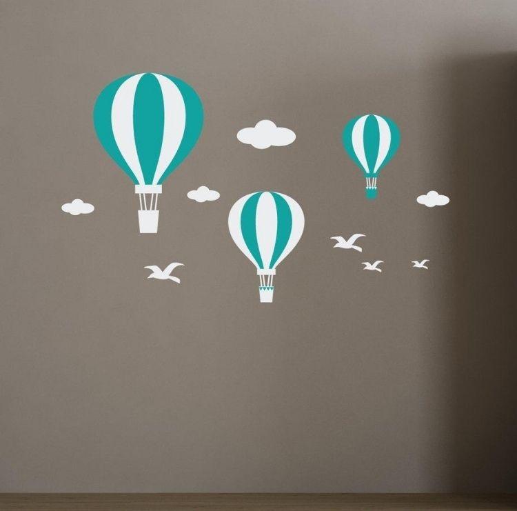 Heißluftballons in Weiß und Türkis   Bad Ideen   Pinterest ...