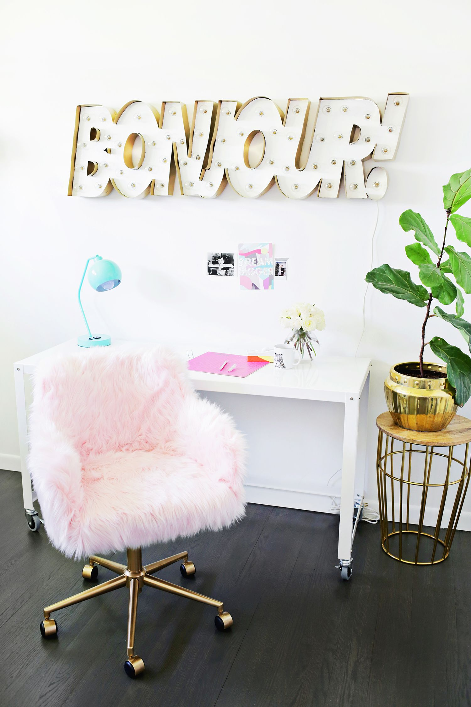Office chair makeover so cute click through for tutorial