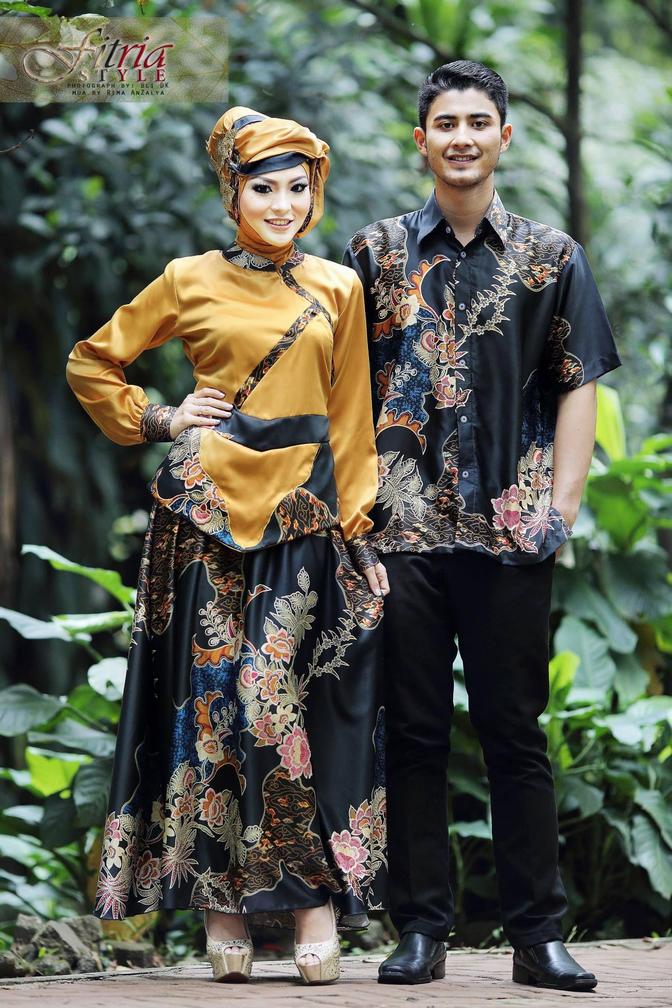Baju Muslim Couple Fasa Syifa Gold Hitam Ryanty Pinterest