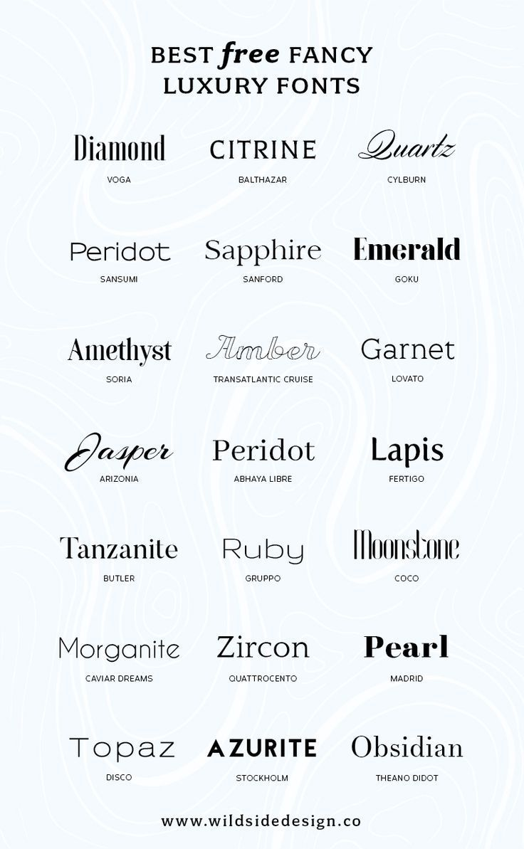 Photo of Best Free Luxury Fonts | Wild Side Design Co.