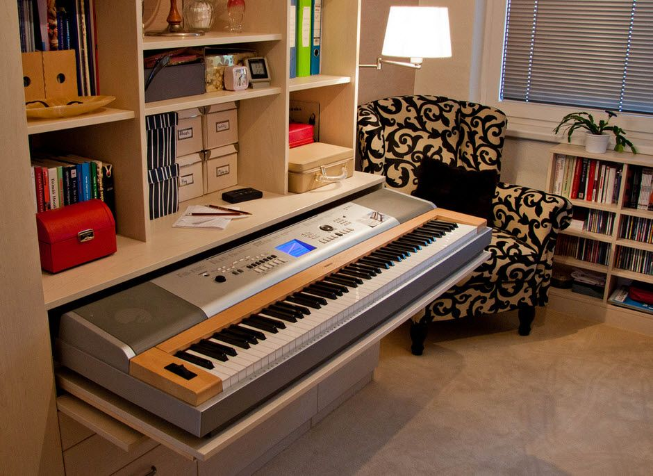 custom made piano drawer interior spaces room piano piano room. Black Bedroom Furniture Sets. Home Design Ideas