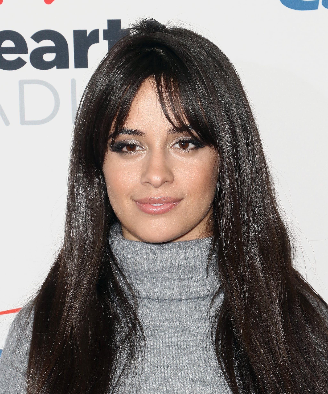Camila Cabello With Long Curtain Bangs