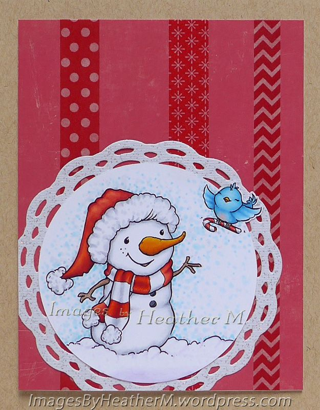 """HeatherM using From The Heart Stamps """"Candy Cane for"""