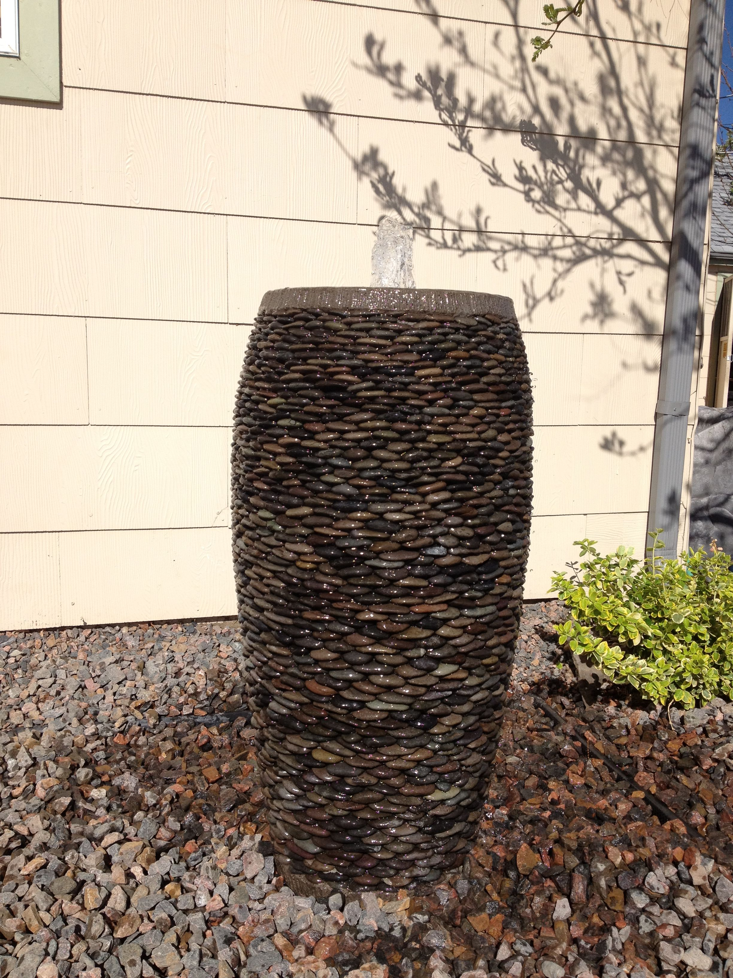 Pebble Pots Disearing Fountains Water Runs Down The Side Creating Great Sound And Amazing Effects