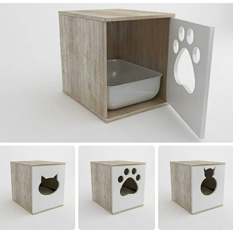Szafka Na Kuwete Dla Kota Pet Furniture Cat Furniture Cat Litter Box Diy
