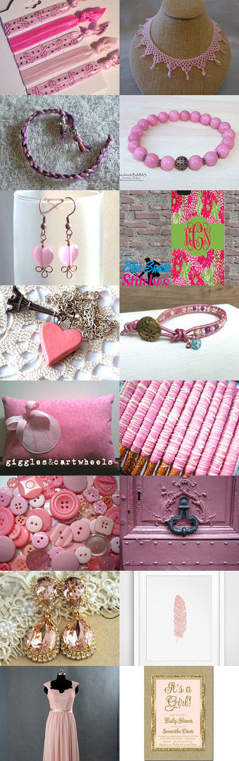 Pretty in Pink by Amy Roe on Etsy--Pinned with TreasuryPin.com #pinkgiftguide
