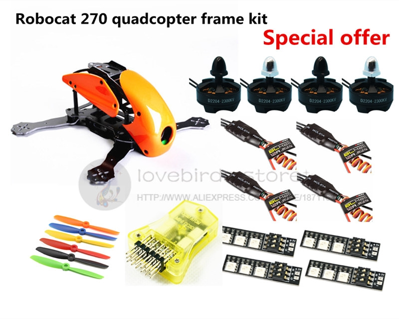 86.87$  Watch here - http://alierr.worldwells.pw/go.php?t=32603154211 - DIY FPV race mini drone Robocat 270 quadcopter frame kit 4-axis pure carbon CC3D + D2204 + BL12A ESC + LED light Special price