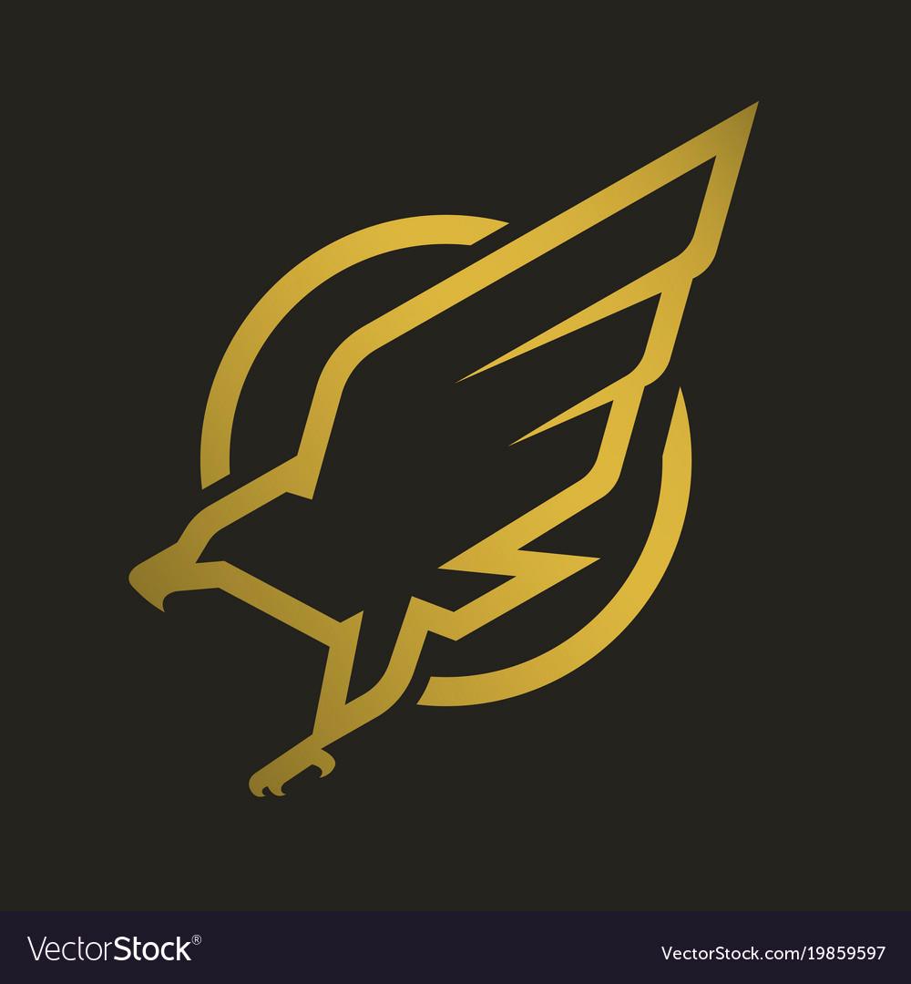 Eagle logo emblem on a dark background vector image on