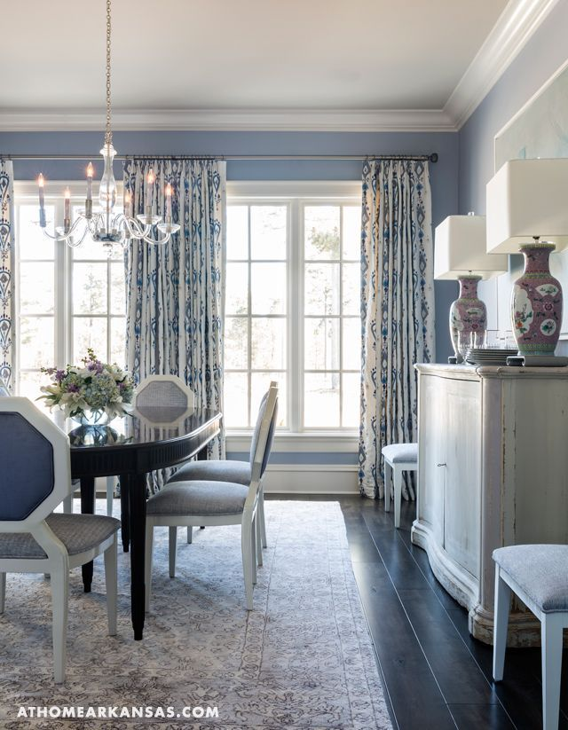 Balancing Masculine And Feminine Energy In Your Home With Andrea Brooks Home Decor Dining Room Curtains Dining Room Blue Modern Dining Room