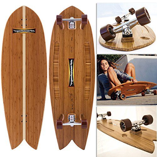 Hamboards Fish Longboard Skateboard (Bamboo) ** For more information, visit image link.