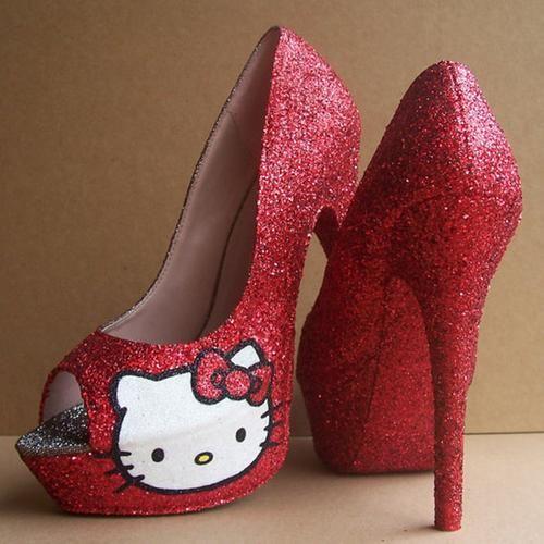 c196f770d hello kitty high heels | Hello Kitty Shoes High Heels Red hello kitty peep  toe high