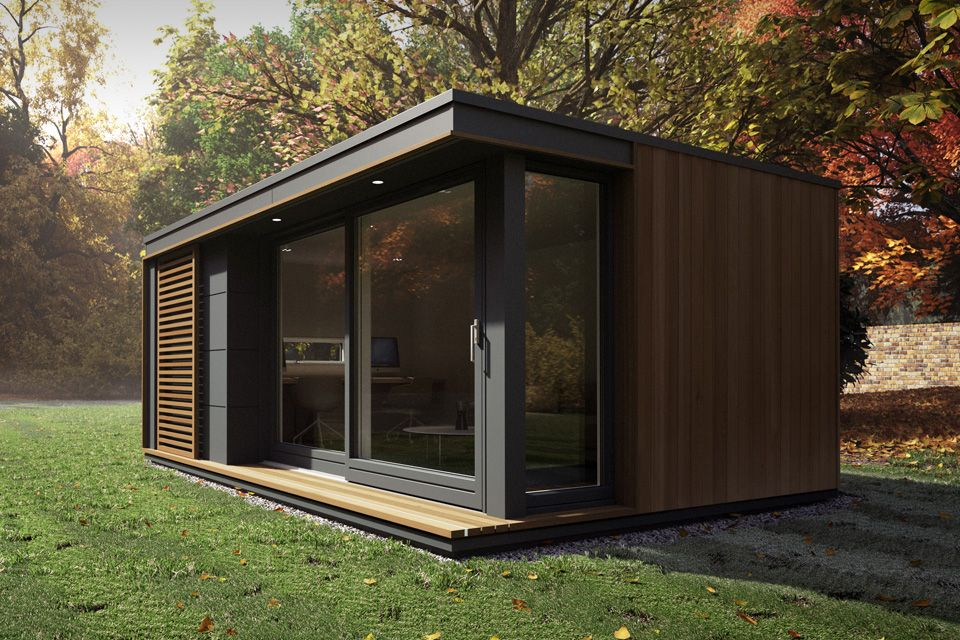 Pod Space S Sleek Process Means There Are No Planning Requirements Our Garden Pods Office Pods I Contemporary Garden Rooms Backyard Office Tiny House Design