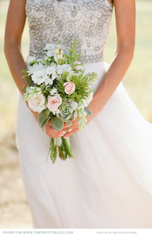 Rose And Green Bouquet Wedding Gold Wedding Gowns Pretty