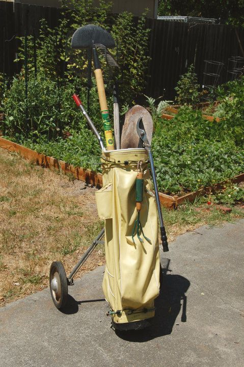 Savvy Housekeeping From Golf To Garden Caddy Garden Tools