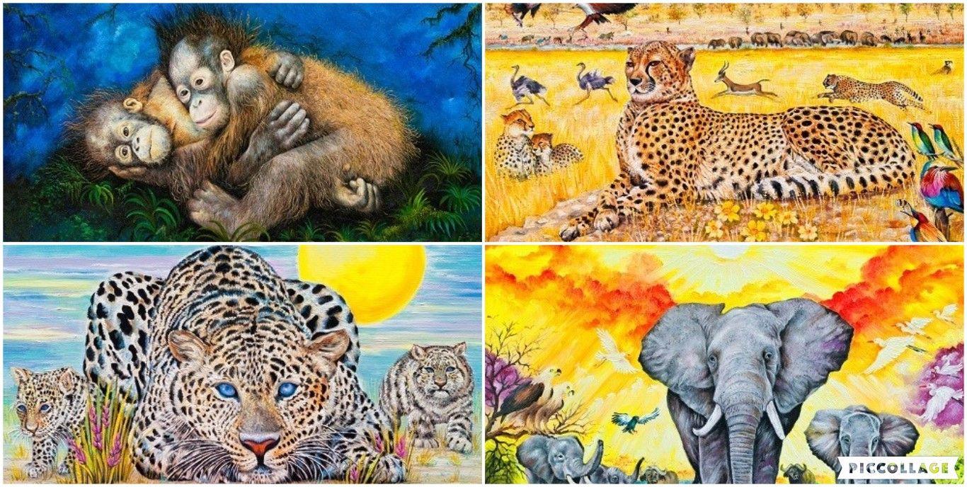 S1 Wild Life; Set of 4 prints; Colour print; art wall