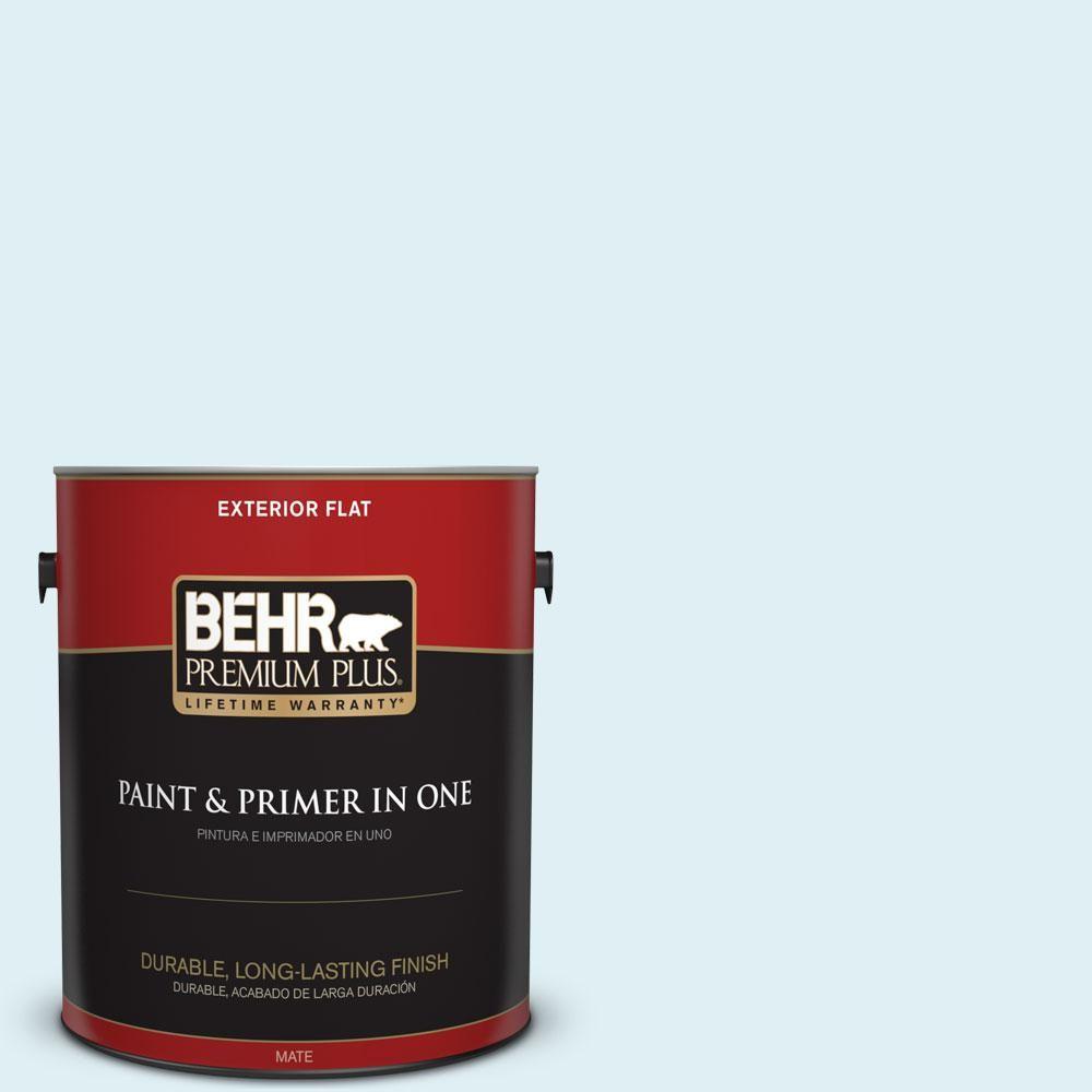 BEHR Premium Plus 1-gal. #M480-1 Helium Flat Exterior Paint