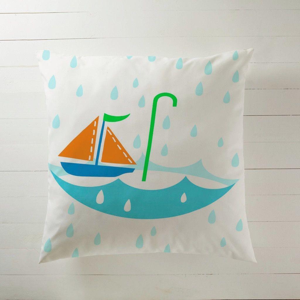 Sailboat in the rain