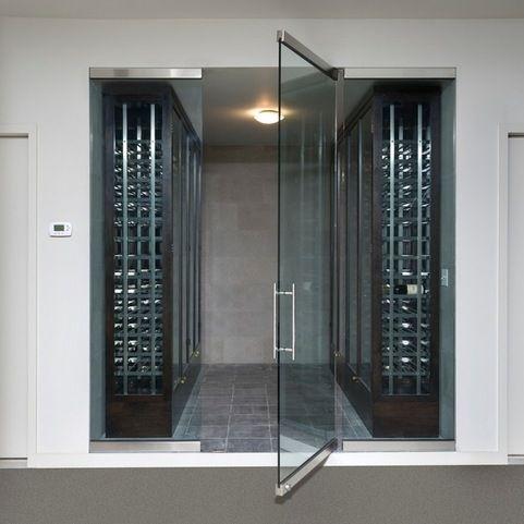 Like These Doors Frameless Wine Room Glass Doors Contemporary
