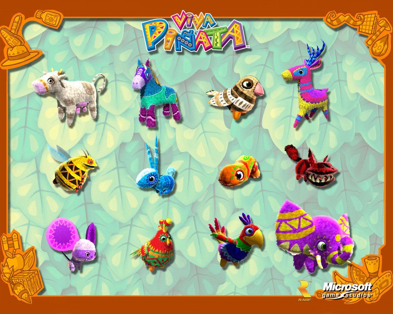 Viva Pinata Wallpaper 03 Free Download Wallpaper Games Daily Free Games Wallpaper On Dailyfreegames Com Geeky Games Pinata Game Pictures