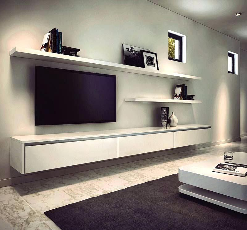 Floating Tv Wall Unit Mounted Uk Clean Stand Ikea Favorite 8