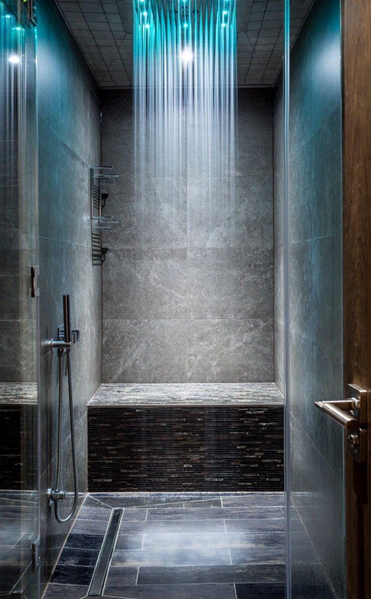 Lighted rain shower head   Bathroom Remodel   Pinterest ...