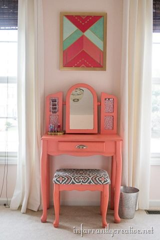 Coral, Mint and Pink Little Girls Room Reveal | Coral gables ...