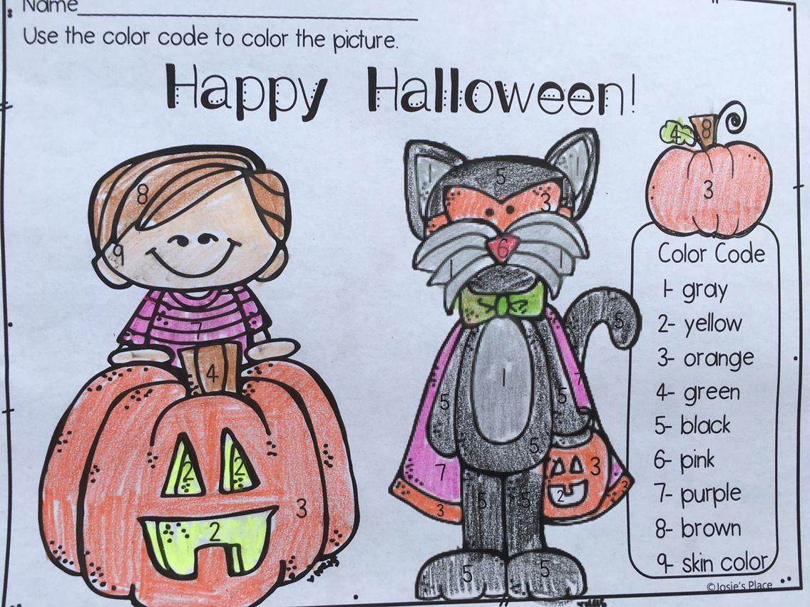 Color Code Halloween Freebie