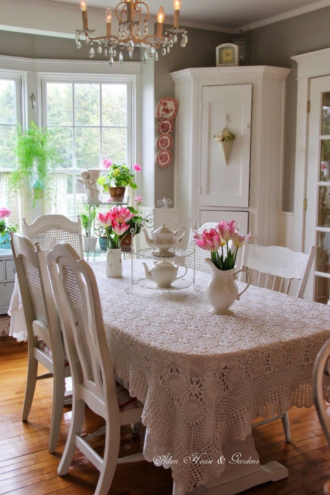 Aiken House & Gardens Kitchendining Room Changes  Cottages Fascinating Shabby Chic Dining Room Decor Review