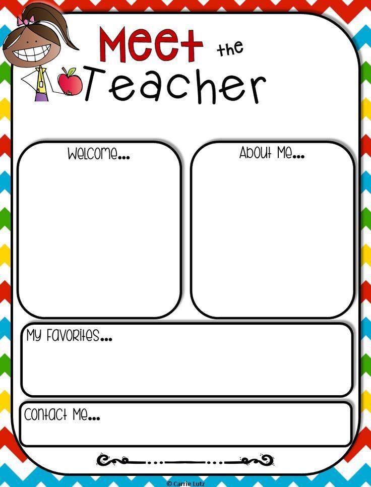 Editable Meet the Teacher Templates with Sign In Sheets | Teacher ...
