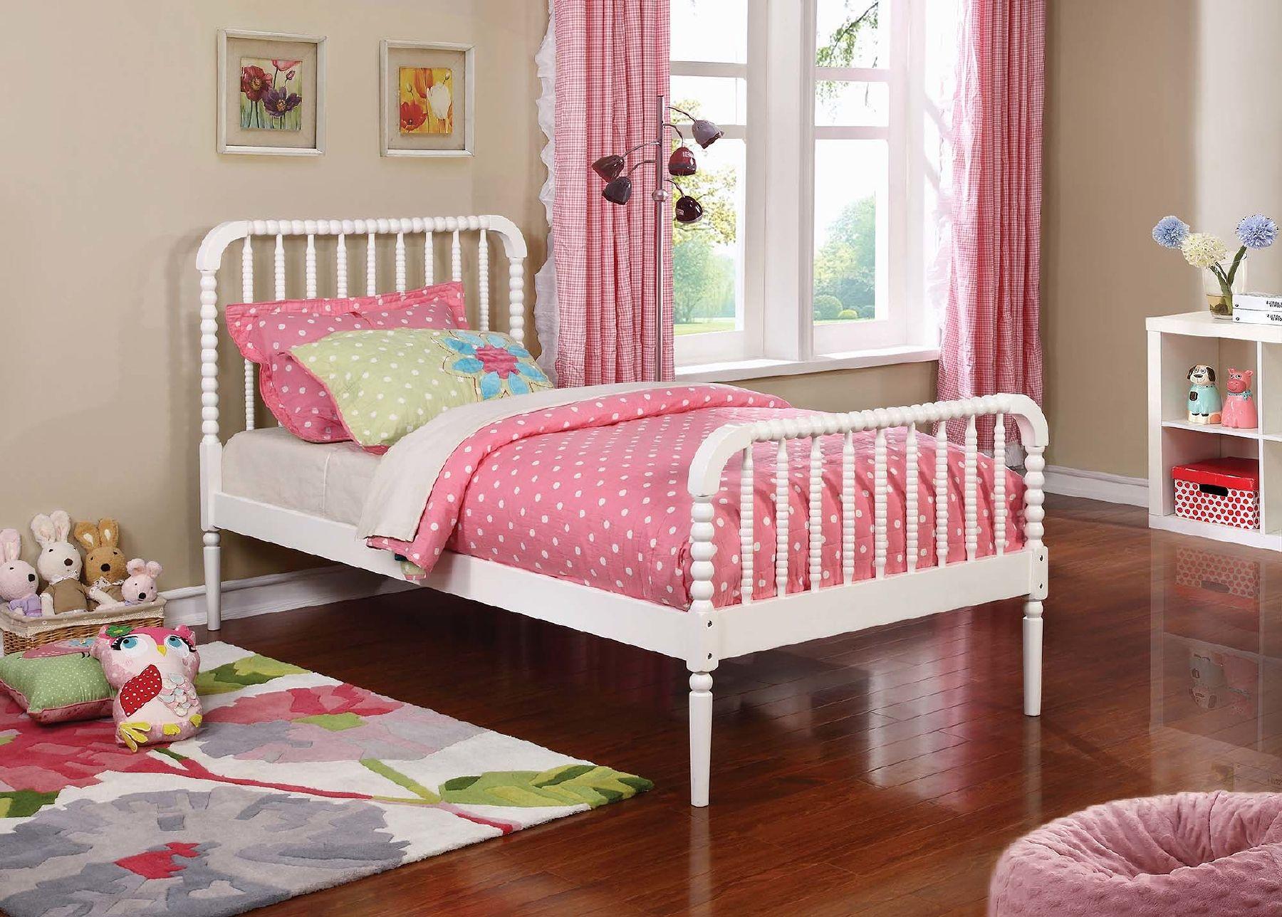 NE Kids Walnut Street Hayden Spindle Twin Bed Chestnut