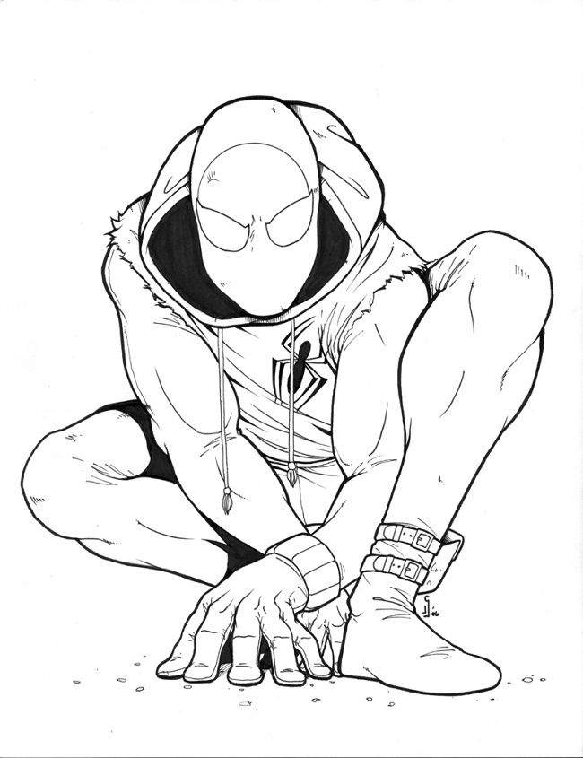 Scarlet Spider Coloring Pages Kids