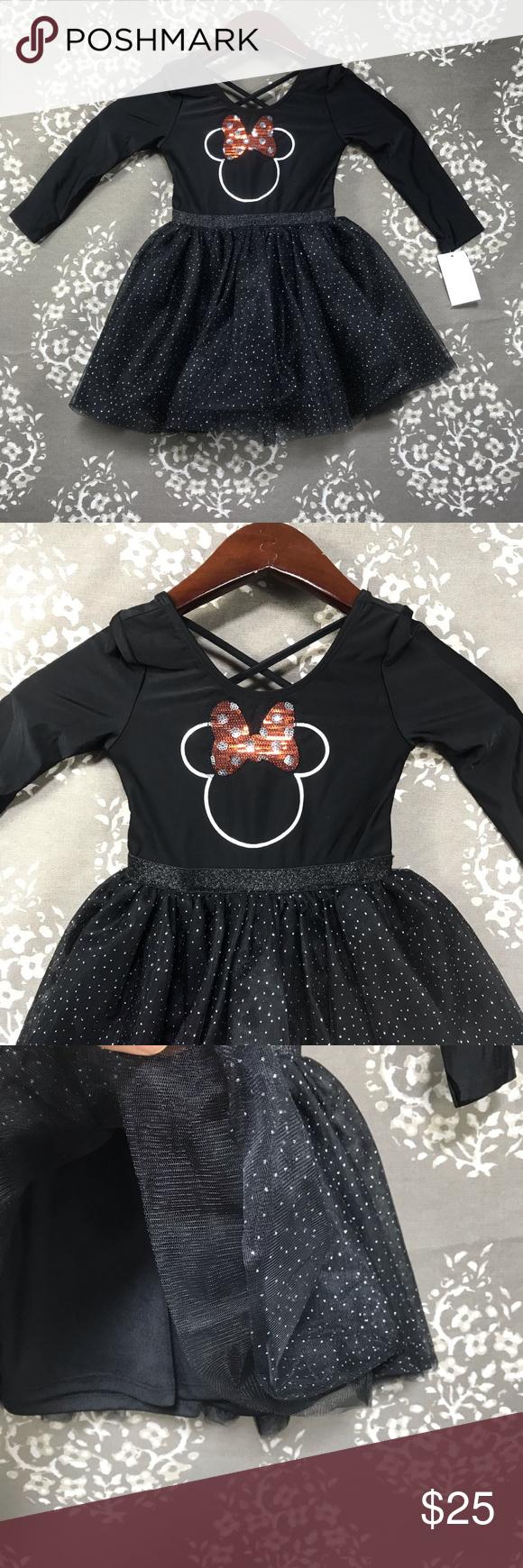 Minnie 3t Black Dress Sparkle Xmas Christmas Casual Dresses Dresses Disney Dresses [ 1740 x 580 Pixel ]