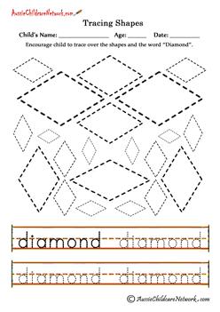 shape tracing printables diamonds preschool shapes worksheets tracing shapes teaching shapes. Black Bedroom Furniture Sets. Home Design Ideas