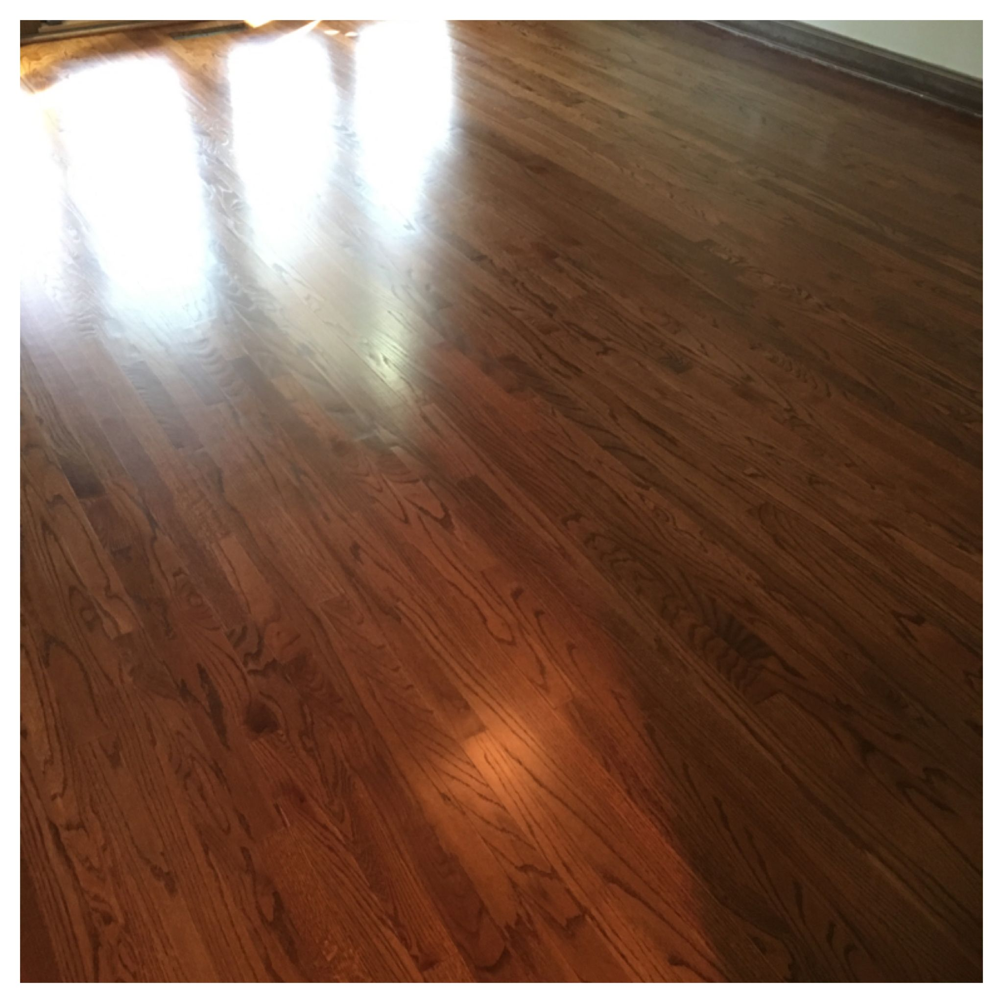 Refinishing Hardwood Floor English Chestnut Color And