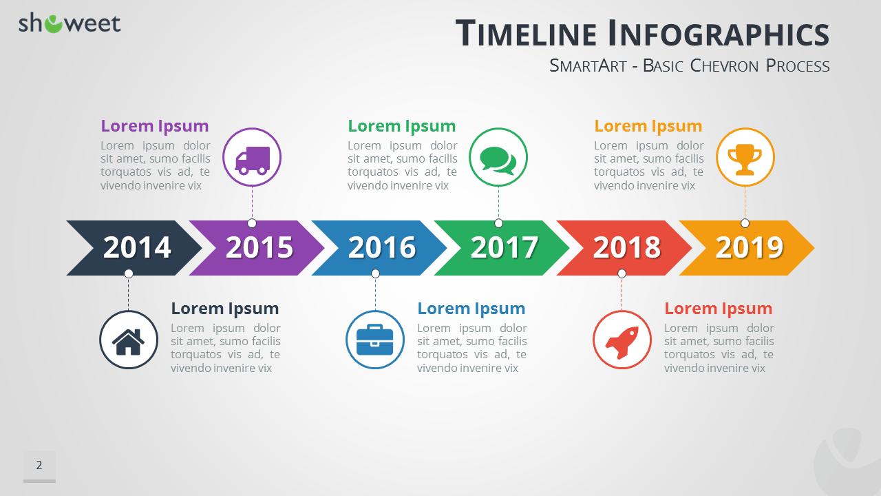 Ppt timeline graphic fieldstation toneelgroepblik Images