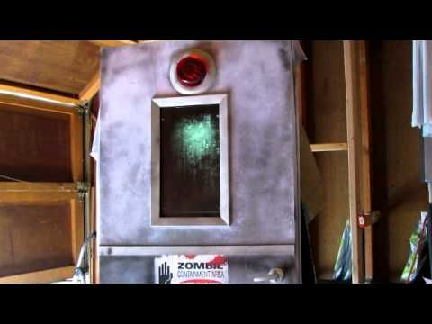 Completed Zombie Containment Door - YouTube Behind the Scare