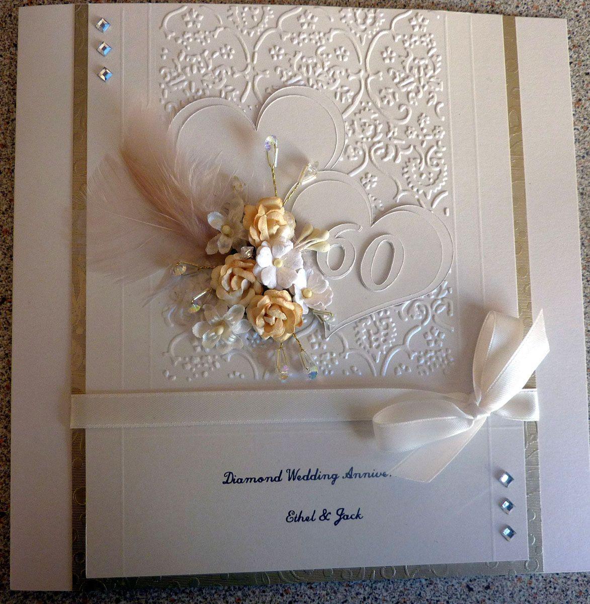 diamond wedding  diamond wedding anniversary cards