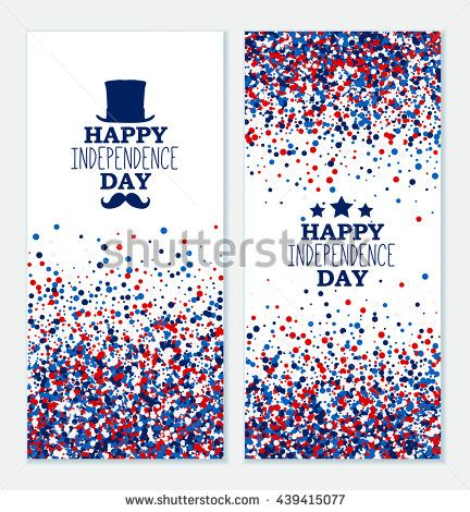 Happy Independence Banners Solar Eclipse Banners