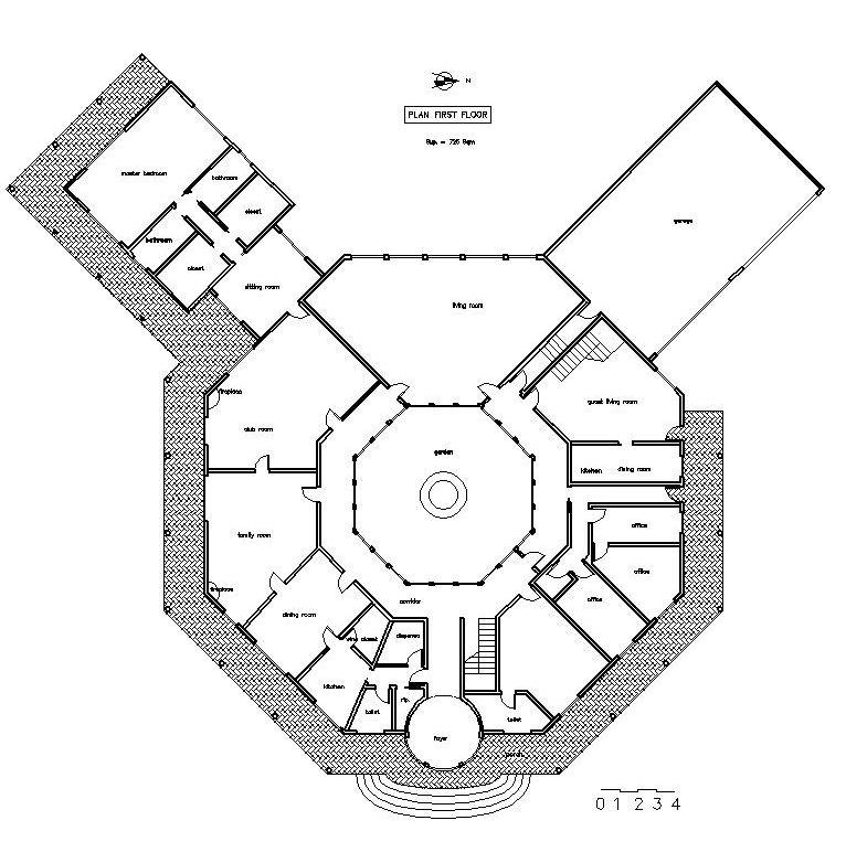Progetto per nuova costruzione villa sup 1225 mq a for Progetto villa moderna nuova costruzione