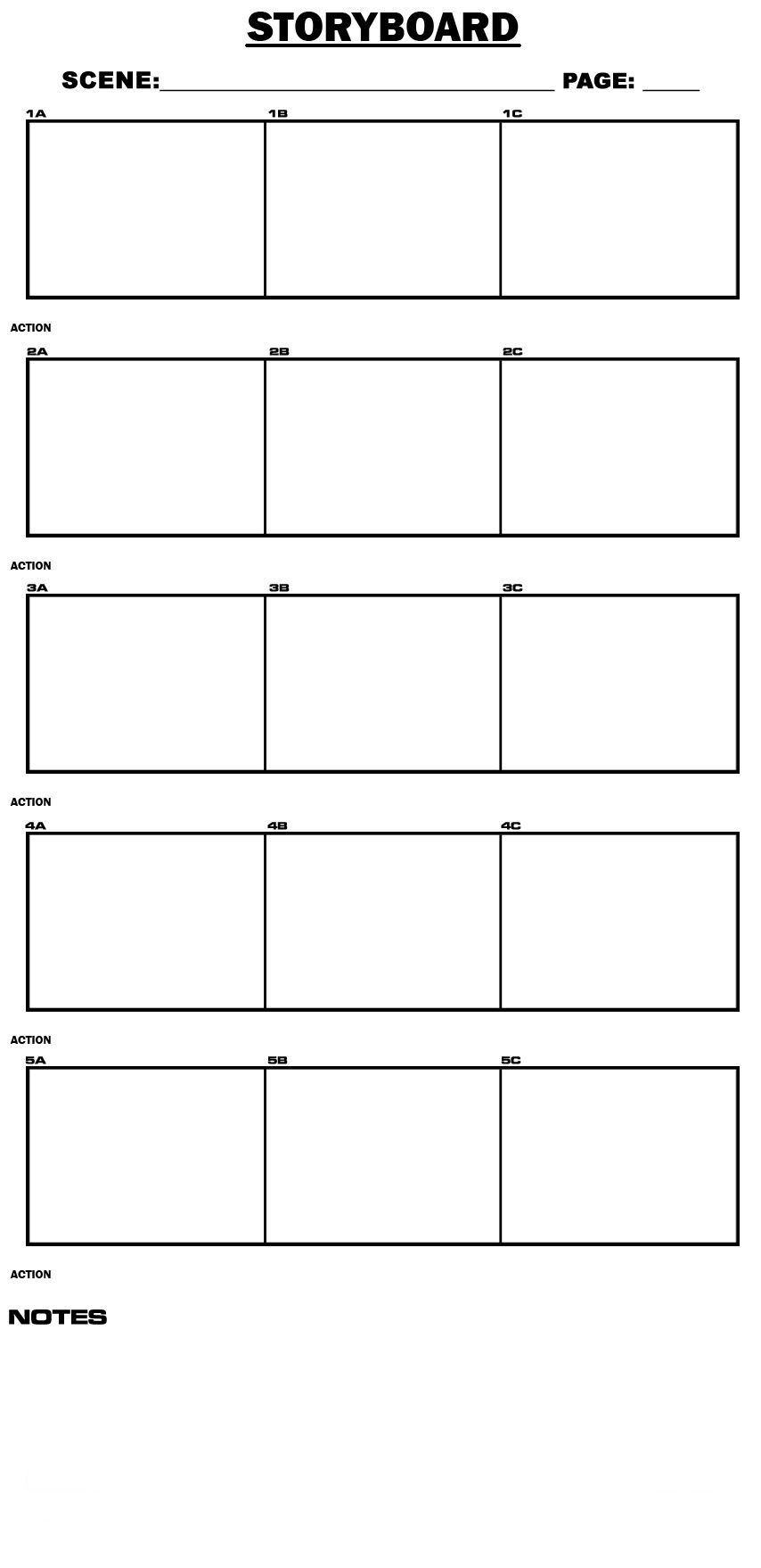 Storyboard Template By TemireeDeviantartCom On Deviantart