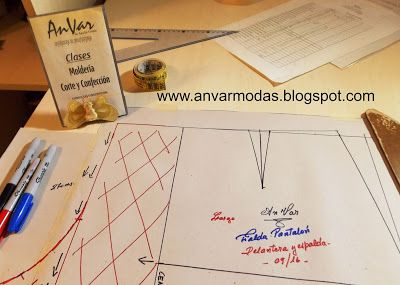 ad32b71af AnVar - Te enseño a coser: TRAZO DE LA FALDA PANTALÓN EN VIDEO ...