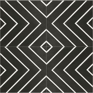 handmade cement maze labyrinth black