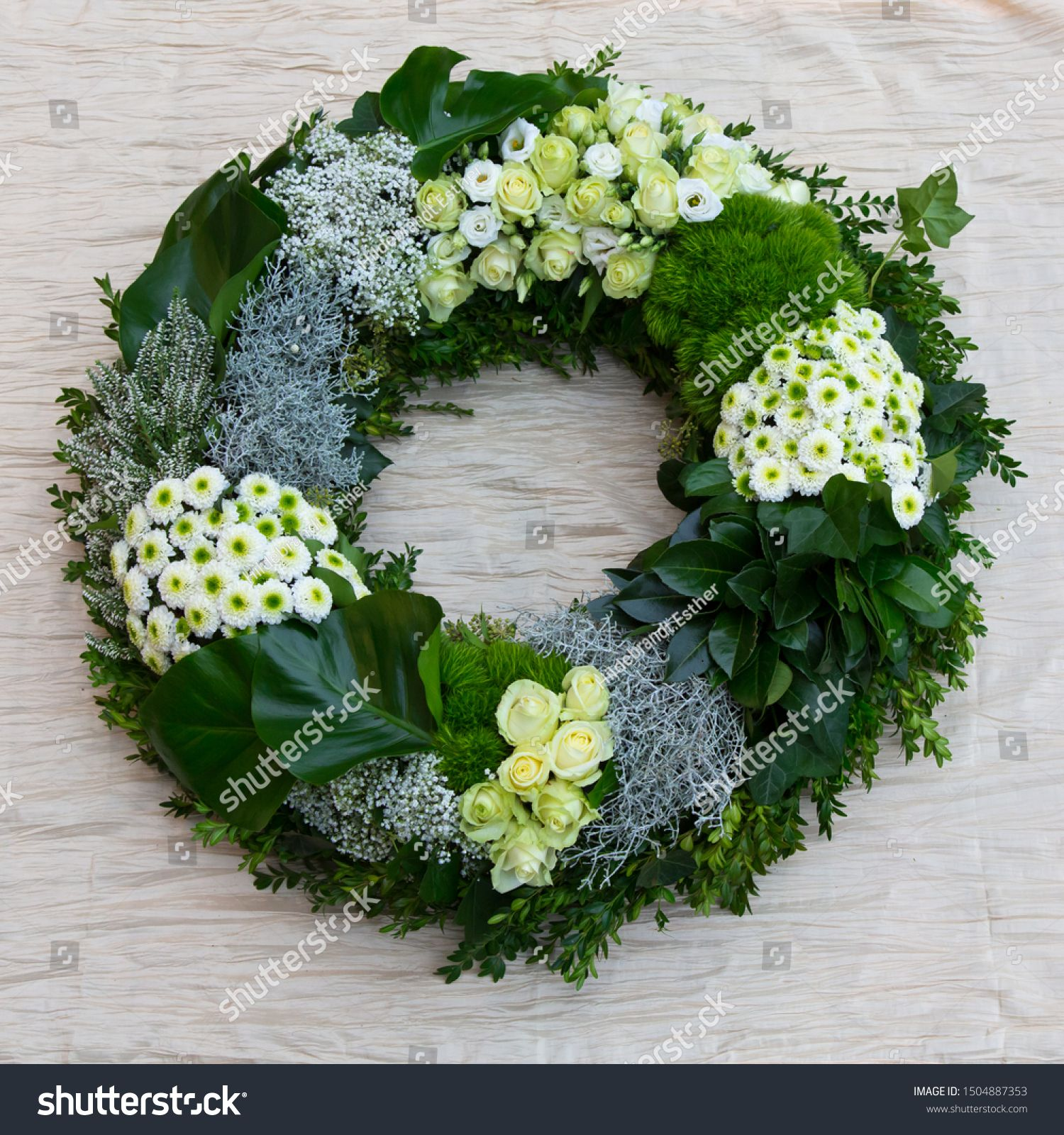 Funeral wreath with fresh flowers Sponsored , AD,