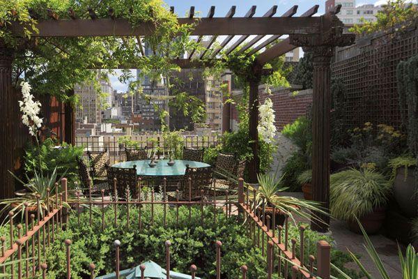 Look Up The Coolest Rooftop Gardens In Nyc Rooftop Garden Rooftop Patio Pergola