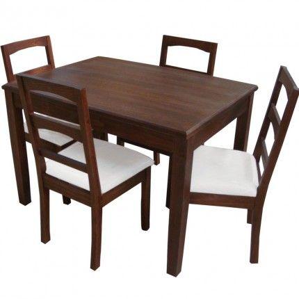 Juego de comedor 4 sillas casanova comedor departamento for Juego comedor pequea o