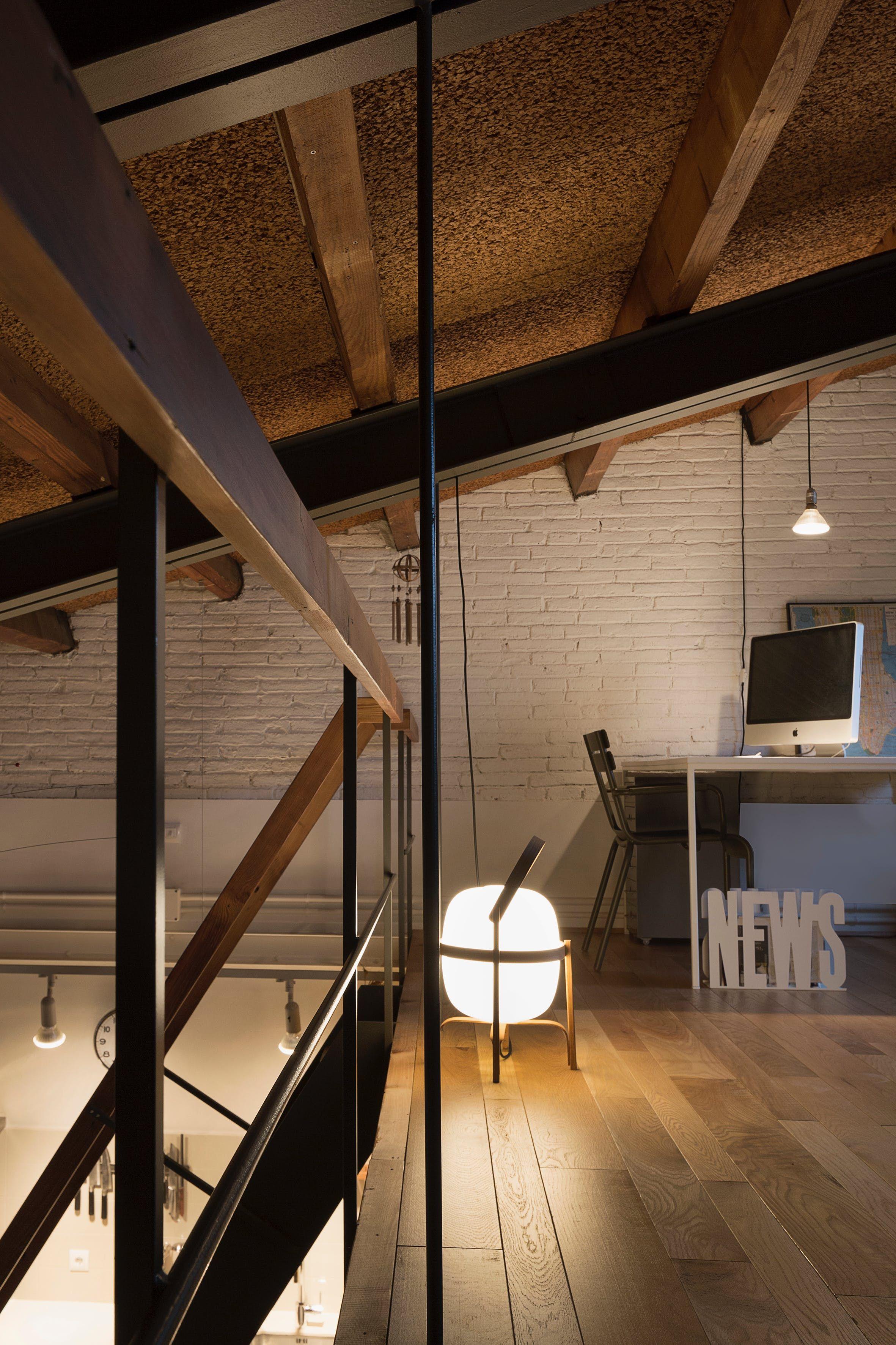 A Renovated Modern Attic Apartment In Barcelona Attic Apartment Attic Design Low Ceiling Bedroom