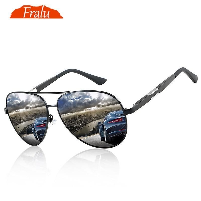 73a3a7350ce WEEKLY DEAL - FRALU Mens Polarized Night Driving Sunglasses