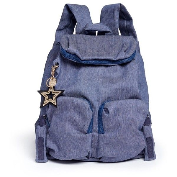 56ed0cb2001c3 See by Chloé  Joy Rider  cotton denim backpack featuring polyvore ...