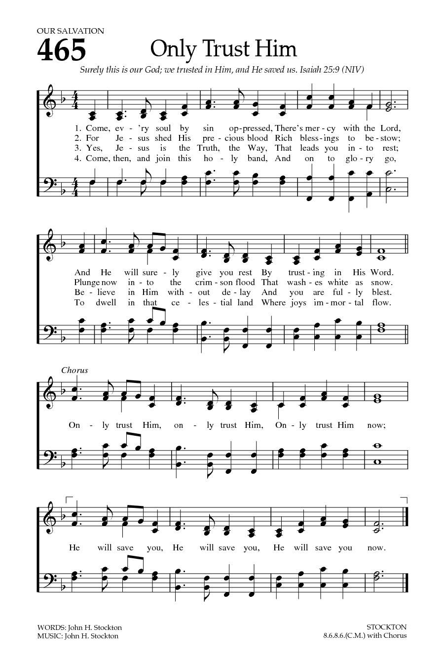 Praise songs about salvation
